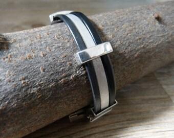 Mens leather bracelet