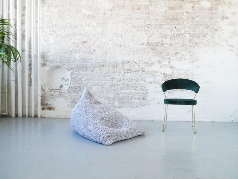 Hand Knitted Pearl Wedge Bean Bag