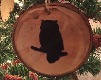 Wooden Owl Ornament