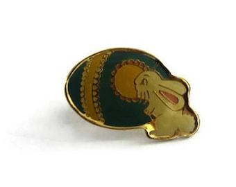 Vintage Easter Egg Bunny Enamel Lapel Hat Pin (f)