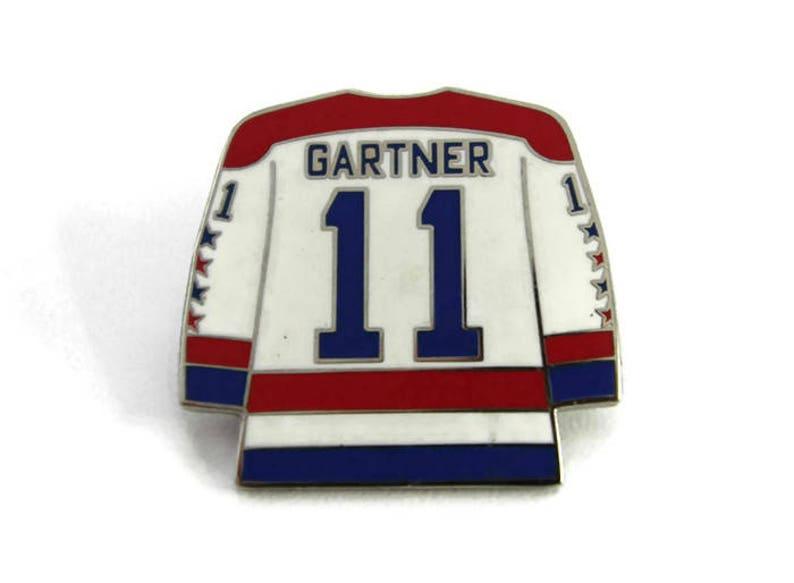 35e6bf8aa Gartner 11 Rare Ice Hockey Right Winger Hockey Jersey Enamel   Etsy