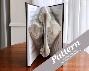 CROSS Book Folding Pattern -- 150 Folds (300 numbered pages). PDF digital download. Includes free How-To Guide with 3 free patterns.
