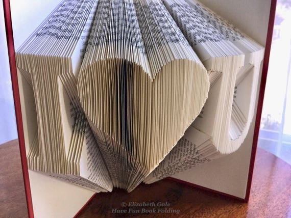 Love you to the moon and back 2 Book Folding Pattern Mark Measure Cut /& Fold
