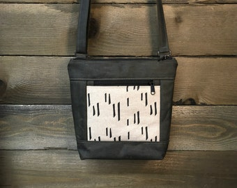Off White Stem Waxed Canvas Cross-Body Purse