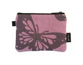 Lavender Butterfly Zipper Pouch
