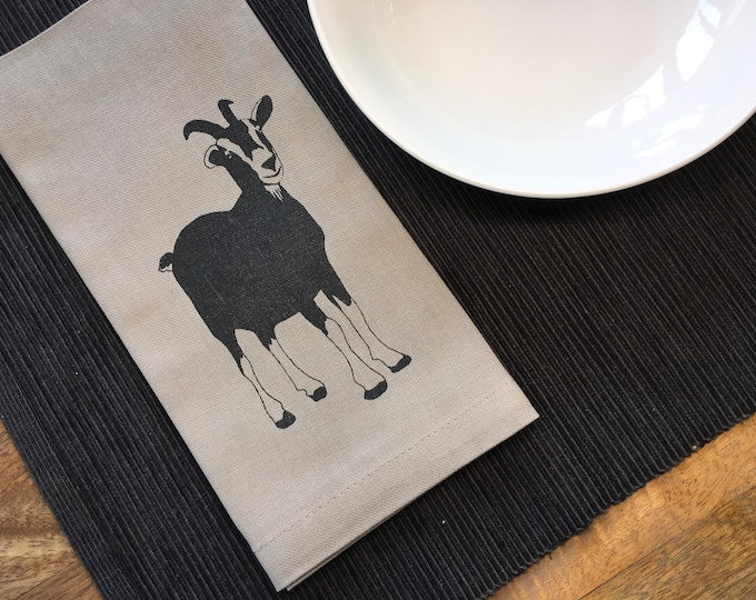 Taupe Goat Cotton Napkins