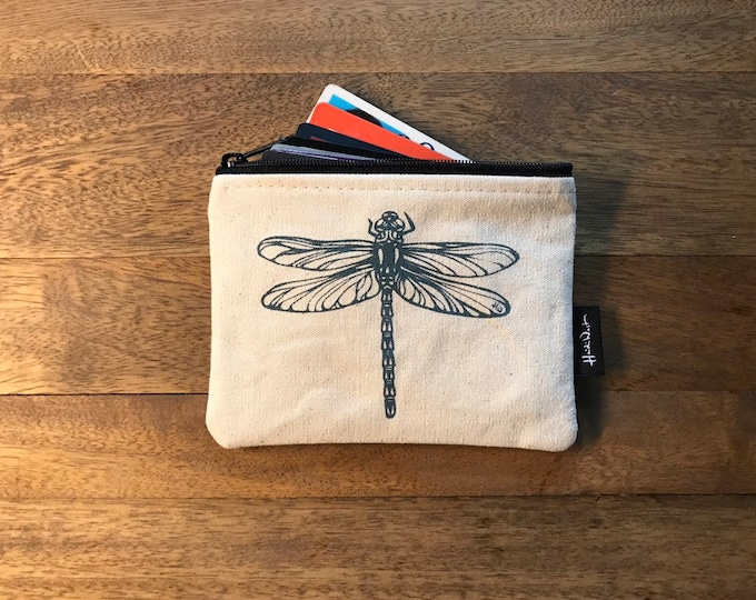 Off-White Dragonfly Credit Card Zipper Pouch