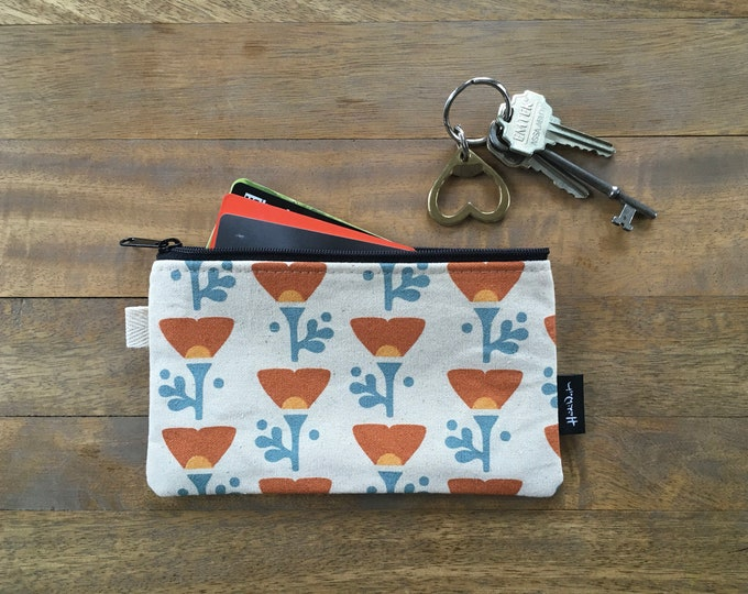 California Poppy 7-inch Zipper Pouch