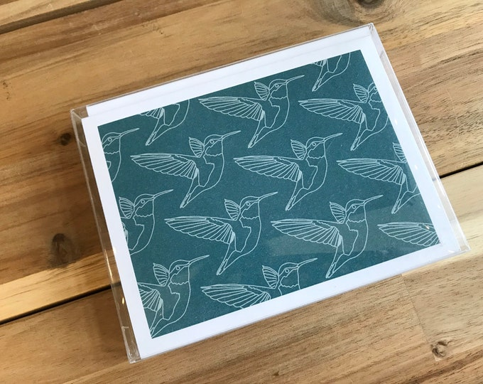 Hummingbird Greeting Cards - A2 - Set of 6 Blank Notecards - Hummingbirds