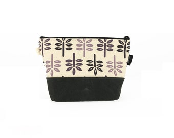 Off White New Leaf Waxed Canvas Zipper Pouch