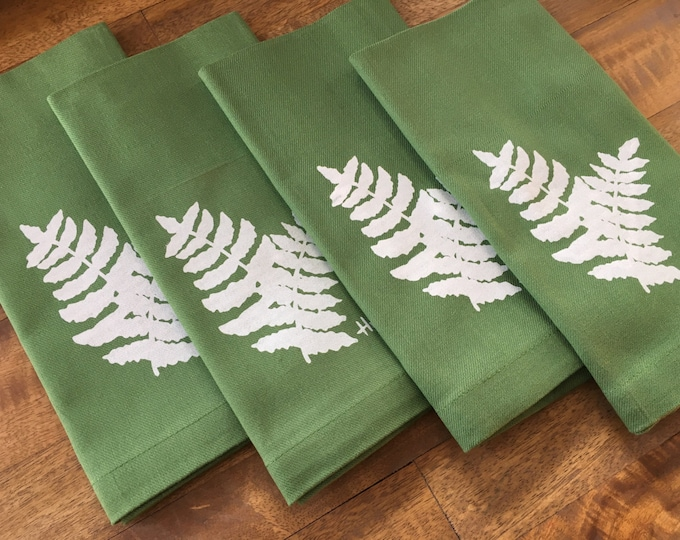 Kelly Green Fern Cotton Napkins