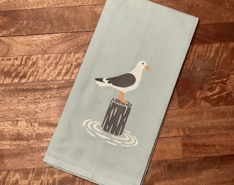 Light Blue Seagull Tea Towel