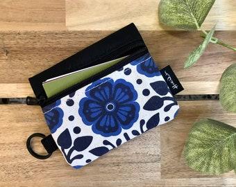 Mini Pouch - Violet Zipper Pouch - Zipper Wallet - Screen Printed - Earbud Pouch