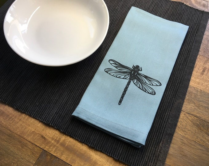 Light Blue Dragonfly Cotton Napkins