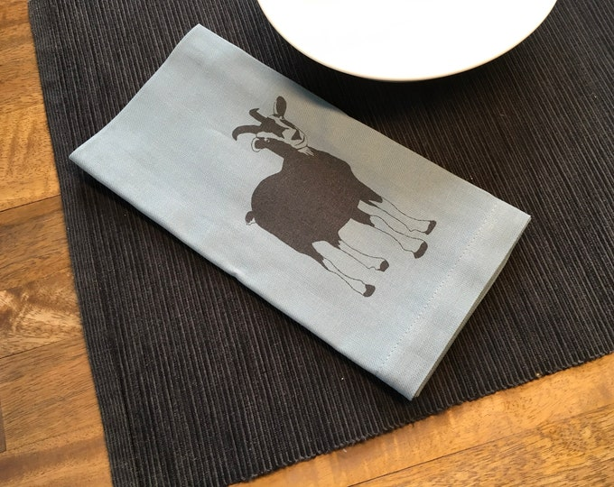 Light Blue Goat Cotton Napkins
