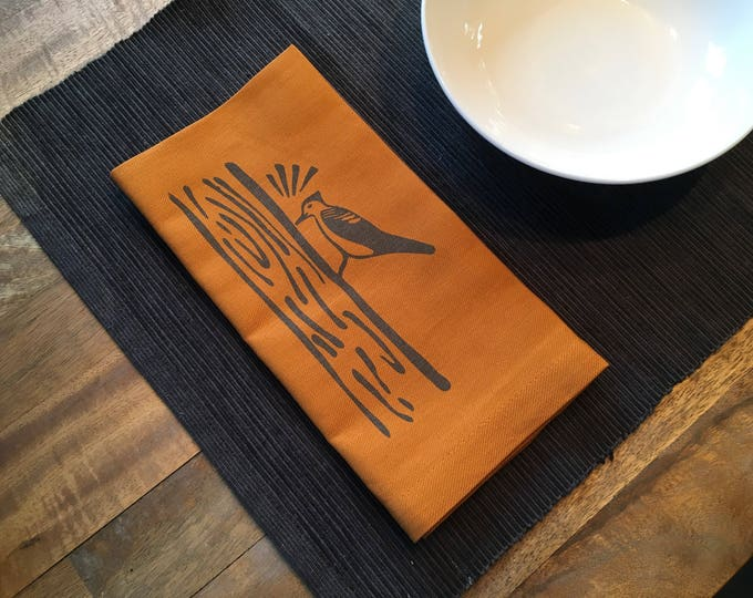 Nutmeg Orange Woodpecker Cotton Napkins