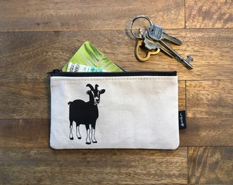 Off-White Goat 7-inch Zipper Pouch