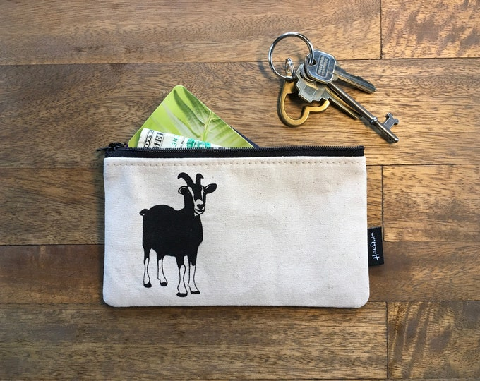 Off-White Goat 7-inch Zipper Pouch