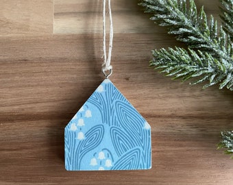 May Lily of the Valley Birth Flower Pattern Tiny House Ornaments - Christmas Ornament