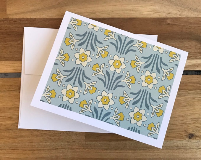 Daffodil Greeting Cards - A2 - Set of 6 Blank Notecards - Flowers