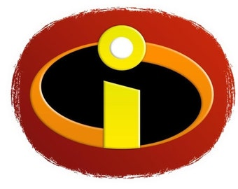 photo relating to Incredibles Logo Printable referred to as Incredibles brand Etsy