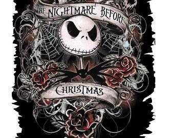 Nightmare before Christmas T shirt Iron on Transfer  8x10 5x6 3x4