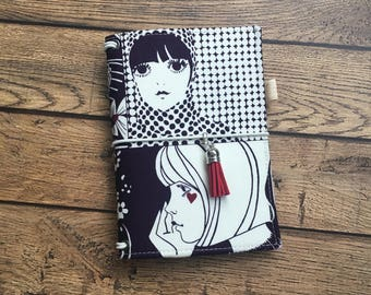 Made to Order Travelers Notebook Cover -Fabric Dori - Faux Dori - Art Girls w/ Pockets and Pen Loop - TN - Bullet Journal - Multiple Sizes
