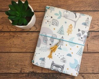 Made to Order Travelers Notebook Cover - Fabric Dori - Faux Dori - Winters Slumber w/Pockets and Pen Loop