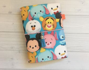 Made to Order Travelers Notebook Cover - Fabric Dori - Faux Dori - Travelers Notebook - Bullet Journal - TN - Notebook Cover -  Tsum Tsums