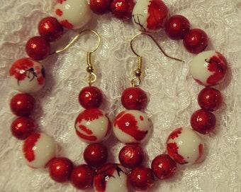 Kurenai Set (Red Japanese Cherry Blossom Set)
