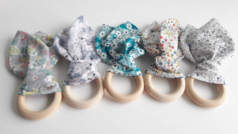 Liberty and wood teething ring image 0