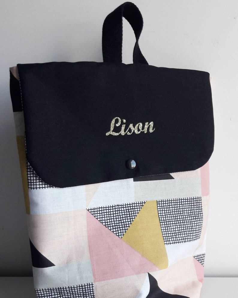 Backpack kids bag baby bag satchel bag  fabric multicolor image 0