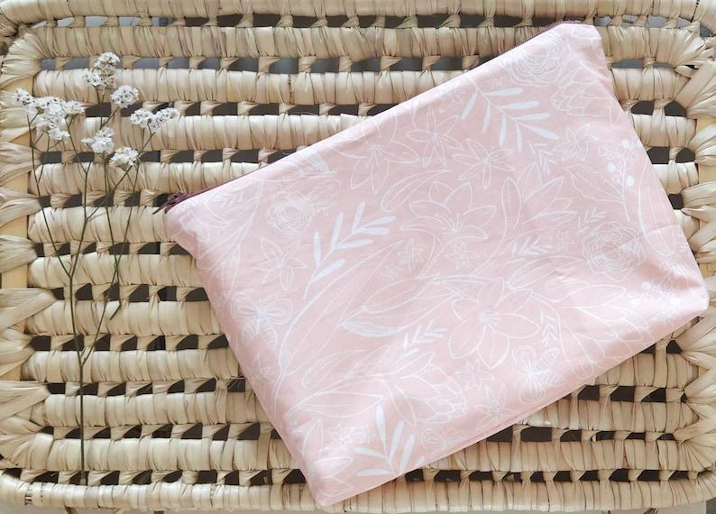 Kit toiletry kit custom kit  floral fabric blush image 0