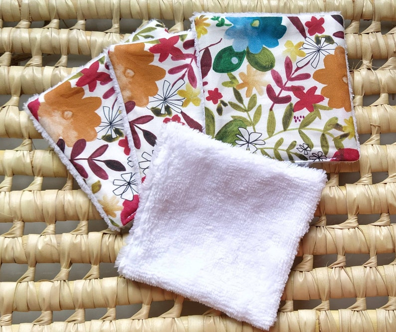 Lot of 5 washable wipes make-up remover wipes washable image 0