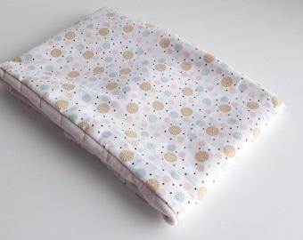 Neck scarf, snood, baby, child - pink polka dot fabric