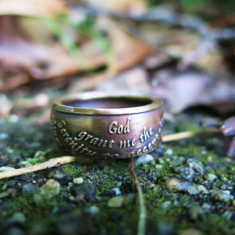 AA Anniversary Medallion Coin Ring Reverse side