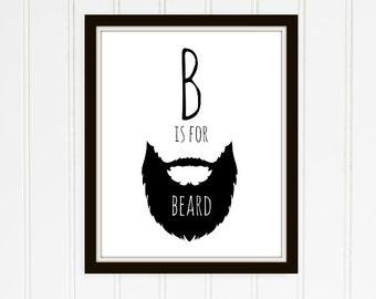 B is for Beard Nursery Printable
