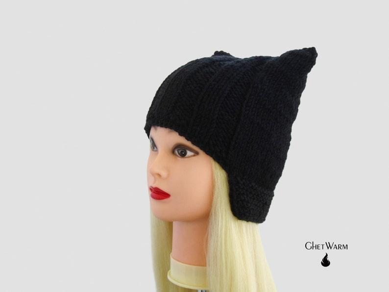 3699ce6c23b91 Sombrero sombrero de orejas de gatito venda del oído de