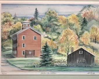 Bakerville Autumn New England Art