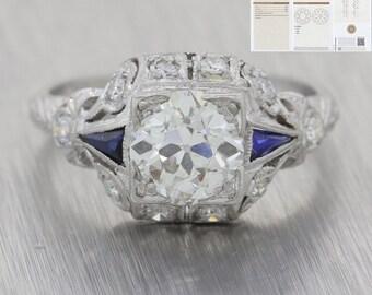 1e880ce6b456d Gia sapphire ring   Etsy