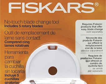 Fiskars 197890-1001 45MM Titanium No-Touch Rotary Blade Change Replacement Tool 5-Pack