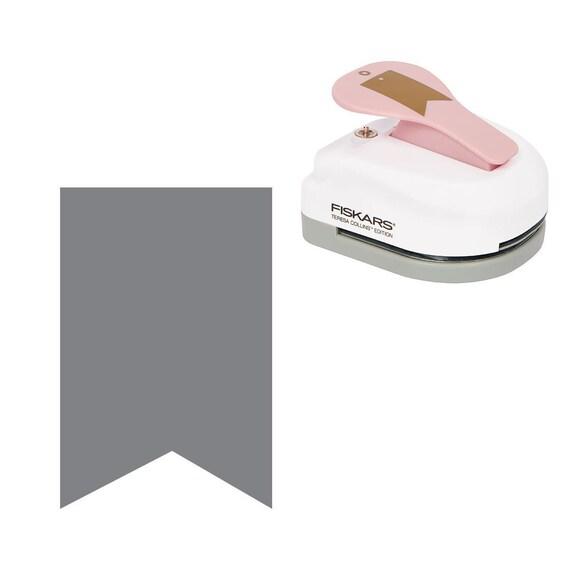 Pink Fiskars Teresa Collins Banner Tag Maker with Eyelet Setter New