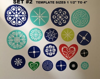 Templates Stencils Mandala Art Rock Canvas