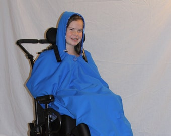 Adult / Child Wheelchair Coat Jacket Poncho Sewing Pattern (PDF Digital Download)