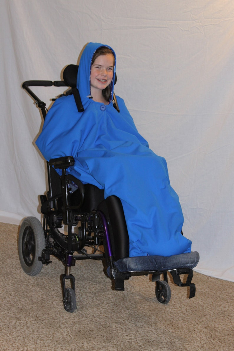 Adult / Child Wheelchair Coat Jacket Poncho Sewing Pattern image 0