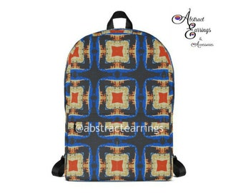 Abstract Art Pattern Backpack Kaleidoscope Funky Psychedelic Retro Inspired  Backpack Mens Unisex Backpacks for Festivals Carry All Bag d2b84477cd626