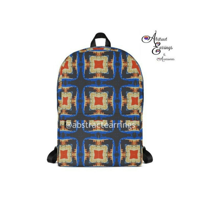 a8e73953f4ab Abstract Art Pattern Backpack Kaleidoscope Funky Psychedelic