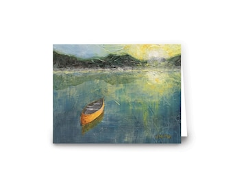 Notecards | set of 5 featuring original painting When You're Gone | by Vanessa Multon