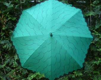 The Leafy Green Umbrella Designed by Stormy Weather Umbrellas NYC [The Shop Owners]