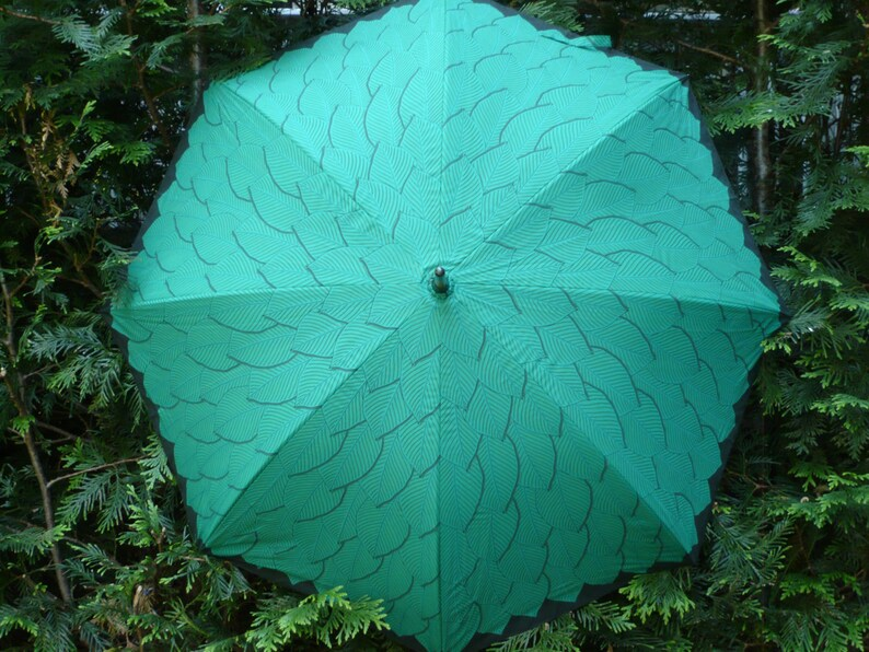 The Leafy Green Umbrella Designed by Stormy Weather Umbrellas image 0